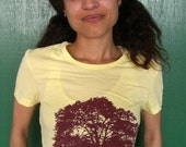 ETSY COM tshirt (yellow) Large