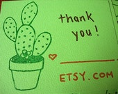 Cactus Thank You Cards - Set of 10