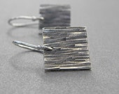 textured square earrings