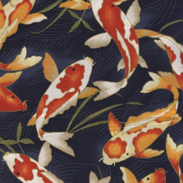 Japanese koi fish fabric for Japanese koi fish names