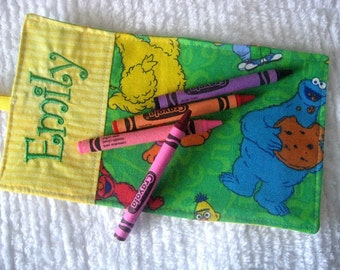 Sesame Street Crayon Wrap Personalized Roll Up