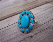 Turquoise Colored Adjustable Ring