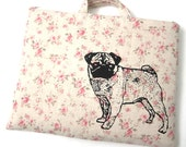 iPad Case - Pug on Floral Linen
