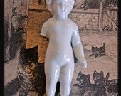 Large Vintage German Frozen Charlotte Doll Wonderful for Mixed Media Art Work