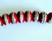 Artistic Offerings Silvered Red Beads SRA