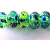 9 Swirling Seas Lampwork Beads SRA Artistic Offerings