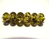 6 Fallen Leaves Lampwork Beads SRA Artistic Offerings