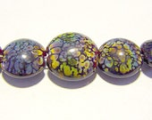 5 Raku Chillers Lampwork Beads SRA Artistic Offerings