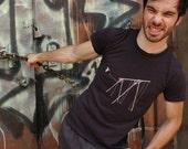 Jump shirt on organic cotton earth coal for men