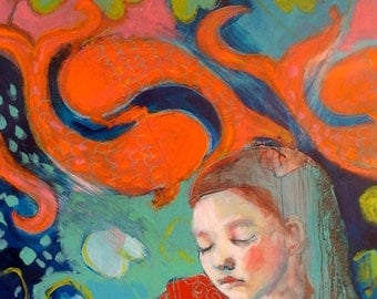 ACEO art reproduction -Dreaming Inspiration