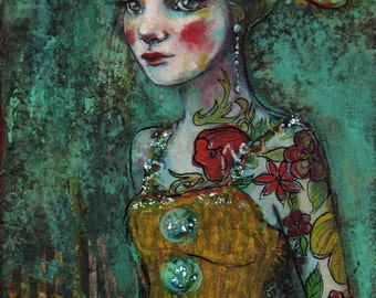 Circus Performer -  - Fine Art Reproduction On Wood by Maria Pace-Wynters