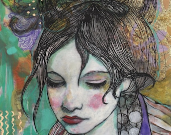 Purple Gold-ACEO  Open edition reproduction by Maria Pace-Wynters