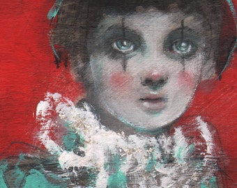 Little Harlequin-ACEO  Open edition reproduction by Maria Pace-Wynters