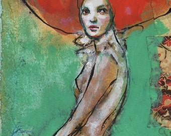 The Bride-ACEO  Open edition reproduction by Maria Pace-Wynters