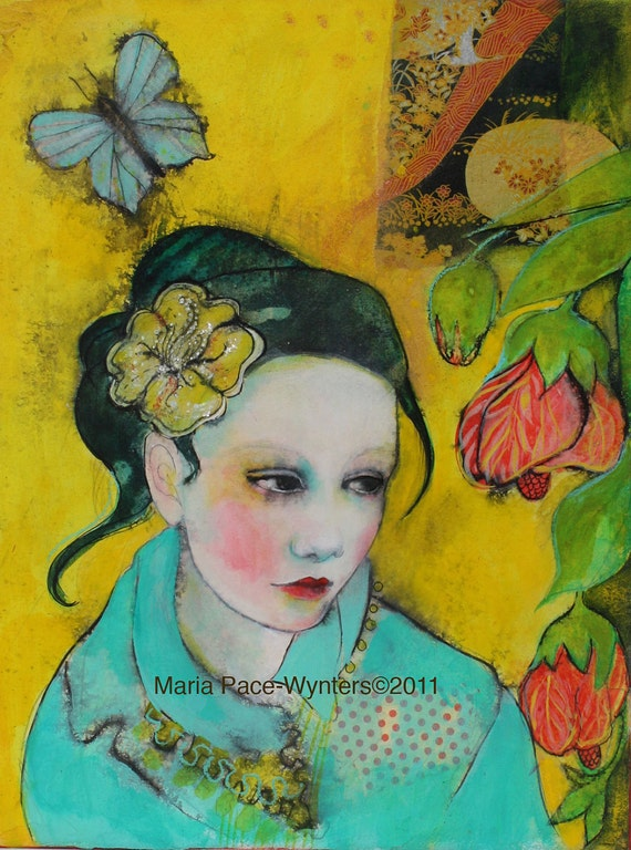 The Beauty That Surrounds You - Fine Art Reproduction On Wood by Maria Pace-Wynters