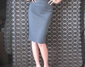 Charcoal Secretary Pencil skirt