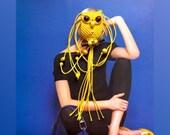 Macrame Owl Necklace - Lemon