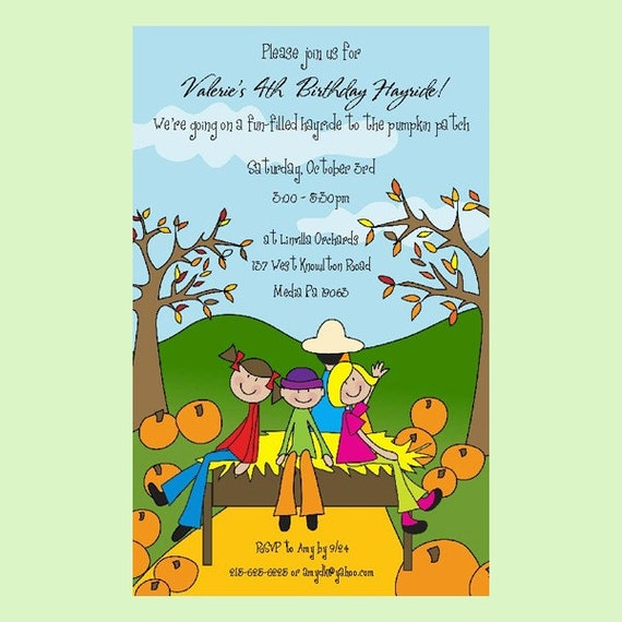 15 PERSONALIZED HAYRIDE KIDS INVITATIONS Childrens Birthday – Personalized Kids Birthday Cards