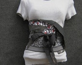 Stained Glass Obi Belt in Greys