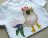 Rooster Applique Onesie Custom Size and Colors