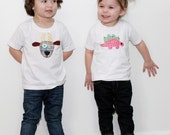 Pick 2 Applique Shirts or Onesies You Choose Designs and Sizes