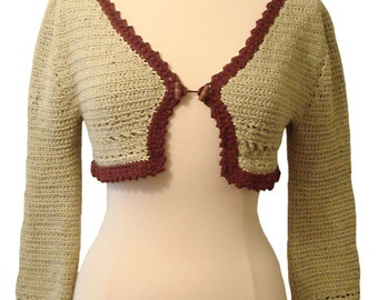 Crochet Pattern--Ruffled Shrug