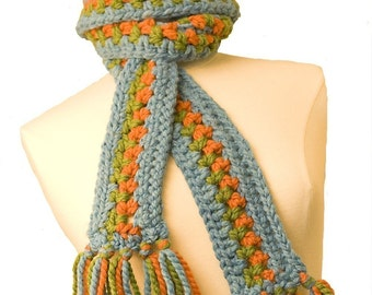 Crochet Pattern-- Chunky Hat and Scarf