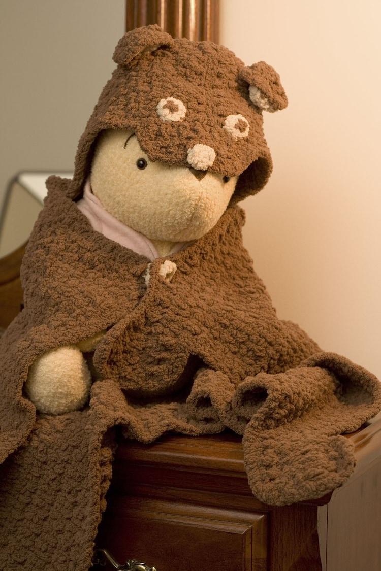 Teddy Bear Hooded Blanket Crochet Pattern by KristieLynn ...