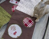 Little Red Riding Hood Patchwork Flannel Scarf for Child