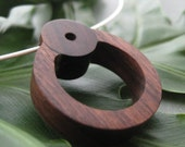 Nacascolo Circle Necklace - handcarved nacascolo wood