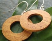 Moran Circulos Earrings - sustainable moran wood circles