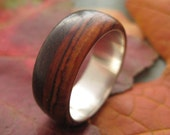 Nambaro - cocobolo and silver ring