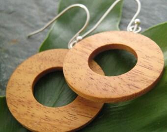 Moran Circulos Earrings - sustainable moran wood circles