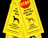 Whippet's Friendly Alternative to Beware of Dog Keeps Dog Safe
