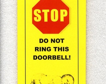 No Mercy For Solicitors - Baby Sleeping Do Not Ring Doorbell Sign