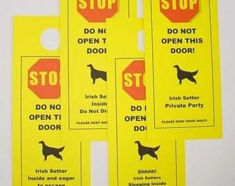 Irish Setter's Friendly Alernative to Beware of Dog Keeps Dog Safe