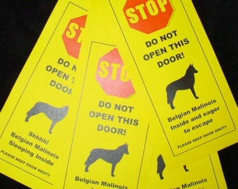 Belgian Malinois' Friendly Alternative to 'Beware of Dog' signs keeps dogs safe