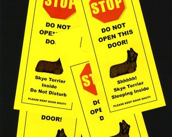 Skye Terrier's Friendly Alternative to Beware of Dog signs