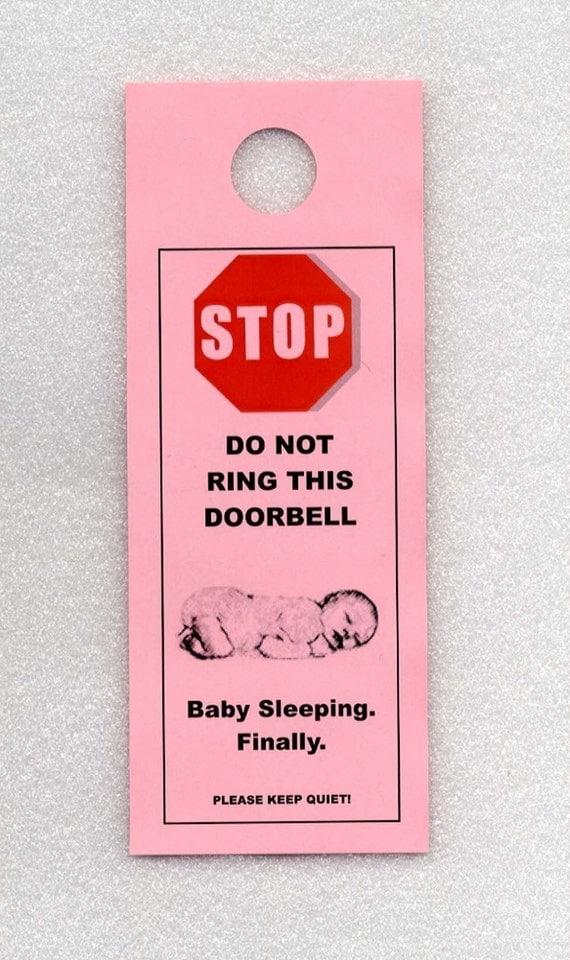 Baby Sleeping - Finally.  The Do Not Disturb Door Signs that Work