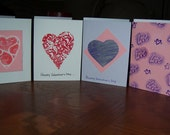Hand Embossed Heart Notecards