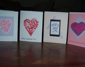 Heart and Love Valentine Notecards