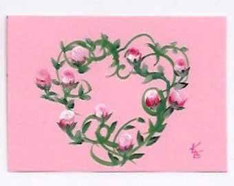 ENTWINED - 2nd In Heart and Roses ACEO Series