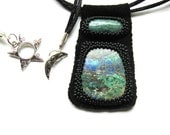 Chrysocolla Beaded Cabochon Necklace GN