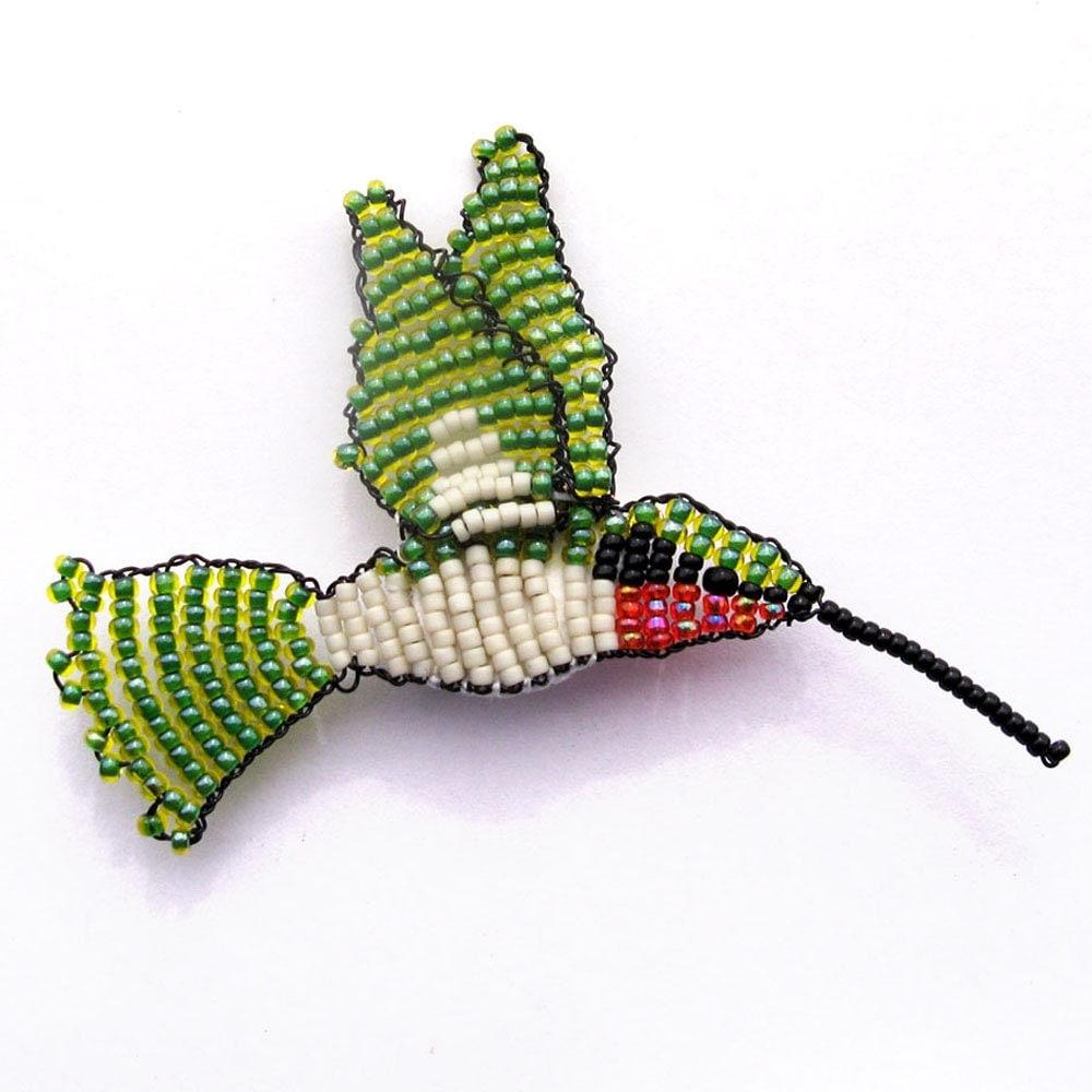 Brooch Beads: Hummingbird Beaded Brooch Made To Order