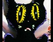 black cat plushy pocket pussy noir minou