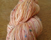 Spotted Persimmon - handpainted sock yarn