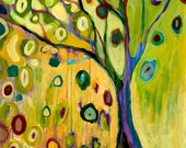 """Abstract Tree of Life - """"Tree of Hope"""" - 9 x 12 inch Fine Art Print by Jenlo"""