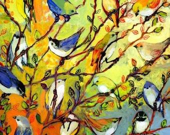 """Modern Nature Art - """"16 Birds"""" - Fine Art Print by Jenlo"""