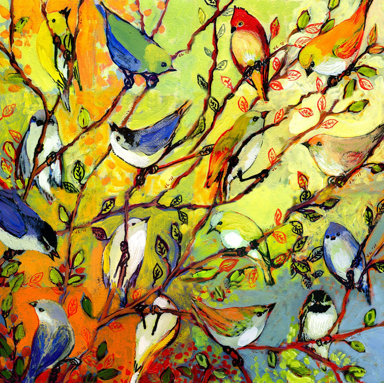 Nature Art Modern Nature Art quot Birds quot