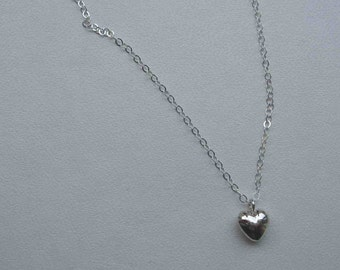 Puffy Heart - sterling silver necklace